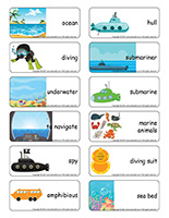 Word flashcards-Submarines