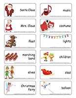 Word flashcards-The Santa Claus Parade