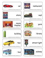 Word flashcards-The city