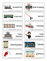 Word flashcards-Trains
