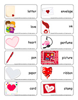 Word flashcards-Valentine's Day-Love-letters