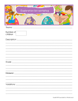 Workshop planning booklet-Easter