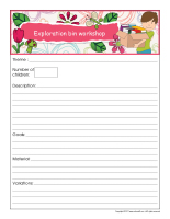 Workshop planning booklet-Spring
