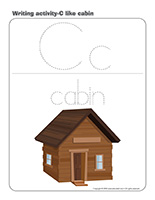 Writing activities-C like cabin