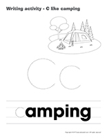 Writing activities-C like camping