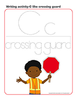 Writing activities-C like crossing guard