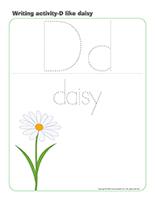 Writing activities-D like daisy