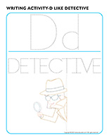 Writing activities-D like detective