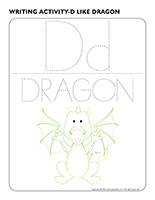 Writing activities-D like dragon