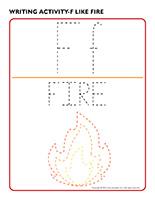 Writing activities-F like fire
