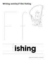 Writing activities-F like fishing