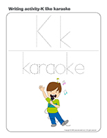 Writing activities-K like karaoke