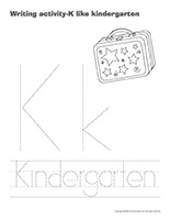 Writing activities-K like kindergarten