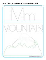 Writing activities-M like mountain
