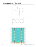 Writing activities-P like pool