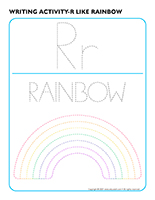Writing activities-R like rainbow
