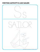 Writing activities-S like sailor