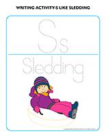 Writing activities-S like sledding