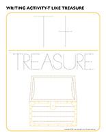 Writing activities-T like treasure