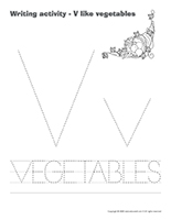 Writing activities-V like vegetables