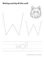 Writing activities-W like wolf