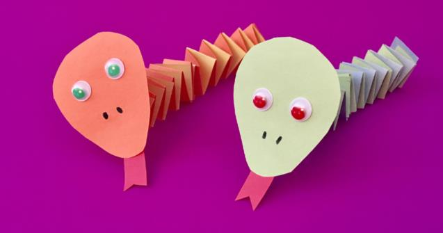 Accordion-Fold Paper Snakes - Arts and crafts - Educatall