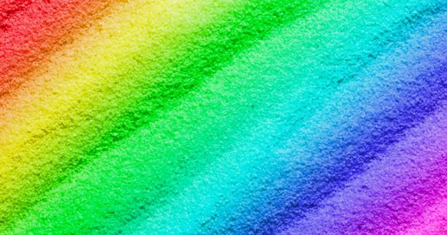 Colorful edible sand