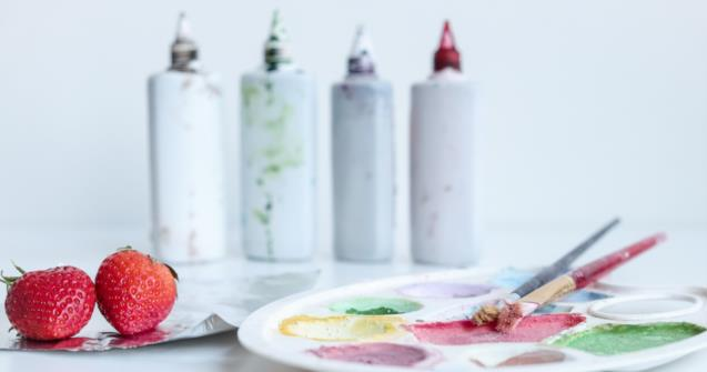 Edible paint for special snacks - Creative recipes - Educatall