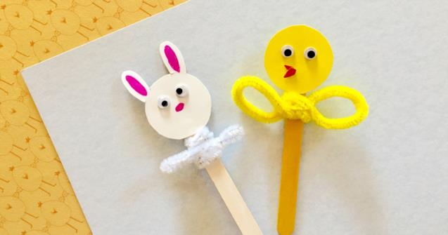Fun And Easy Popsicle Stick Puppets! - Arts and crafts - Educatall