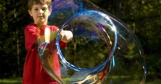 Giant bubbles - Creative recipes - Educatall