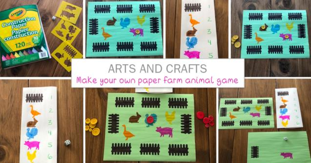 Make your own paper farm animal game - Arts and crafts - Educatall
