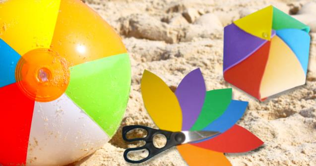 Miniature beach ball - Arts and crafts - Educatall