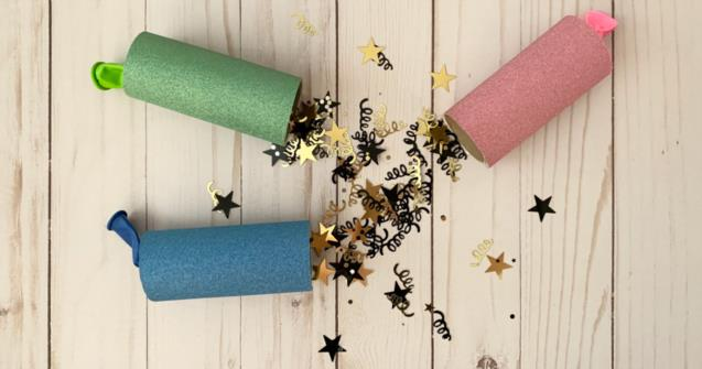 New Year's Confetti Poppers - Arts and crafts - Educatall