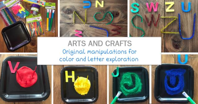 Original manipulations for color and letter exploration - Arts and crafts - Educatall