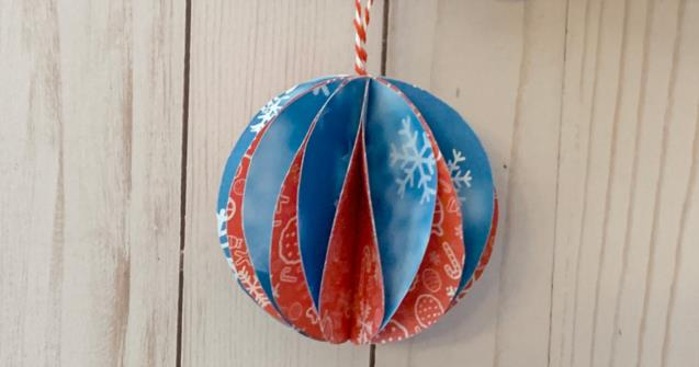 Paper Christmas Balls - Arts and crafts - Educatall