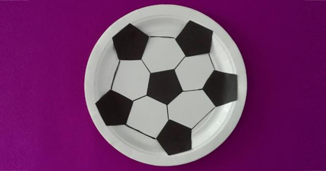 Paper Plate Soccer Ball - Arts and crafts - Educatall