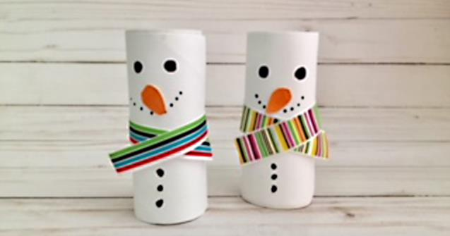Paper Roll Snowmen - Arts and crafts - Educatall
