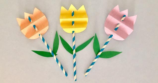 Paper Tulips Arts And Crafts Educatall
