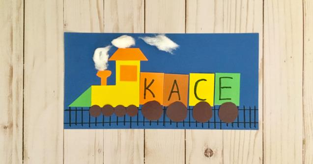 Paper Name Trains - Arts and crafts - Educatall