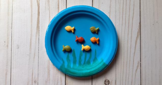 Paper Plate Goldfish Bowl - Arts and crafts - Educatall
