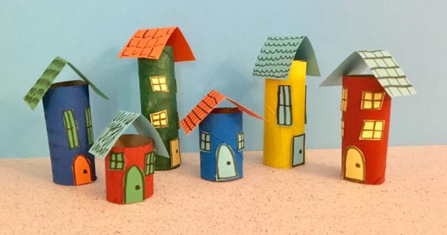 Paper Roll Mini City - Arts and crafts - Educatall