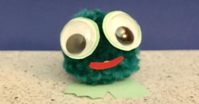 Pompom Froggy - Arts and crafts - Educatall