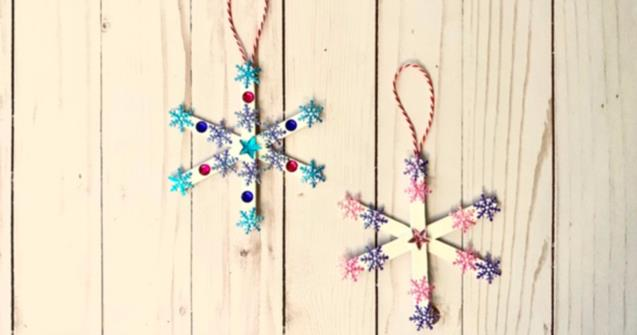 Popsicle Stick Snowflakes - Arts and crafts - Educatall