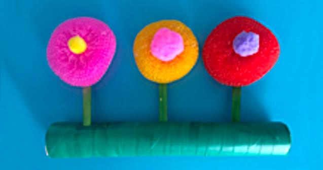 Round flowers - Arts and crafts - Educatall