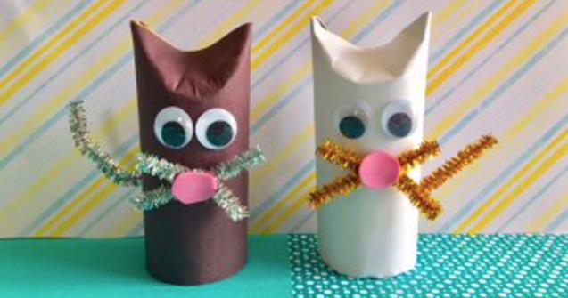 Toilet Paper Roll Kittens - Arts and crafts - Educatall