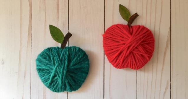Yarn apples  - Arts and crafts - Educatall